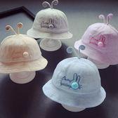秋冬兒童寶寶帽子2男童盆帽小兔女童漁夫帽