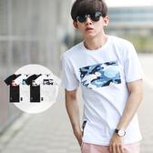 T恤 海洋迷彩立體鋼印日文字短T【NB0216J】