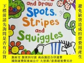 二手書博民逛書店Doodle罕見and Draw Spots,Stripes a