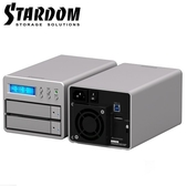富廉網STARDOM SR2 SB3 3 5 吋USB3 0 eSATA 2bay 磁碟陣