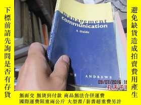 二手書博民逛書店management罕見communication a guid