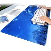 游戲超大大號滑鼠墊鎖邊可愛動漫小號加厚筆記本電腦辦公桌墊鍵盤【快速出貨】
