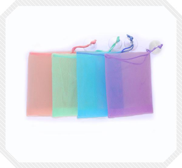 台灣製彩色香皂袋2入(顏色隨機)
