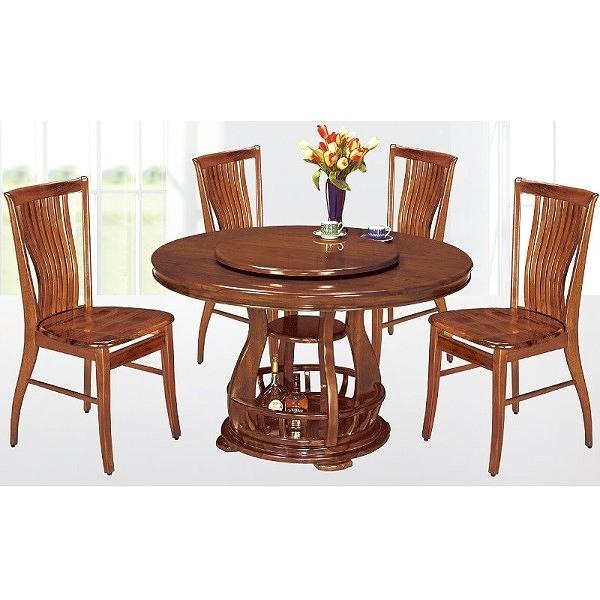 餐桌 AT-821-8 柚木4.38尺實木餐桌 (不含椅子) 【大眾家居舘】