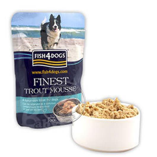 【培菓平價寵物網】英國 海洋之星 Fish4Cats《犬用│海藻精華鱒魚慕斯》100g