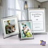 相框 榮譽證書框水晶玻璃相框擺台a4獎狀框掛牆7寸12寸展示框橫版裱框T 多色