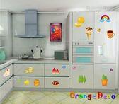 壁貼【橘果設計】水果 DIY組合壁貼/牆貼/壁紙/客廳臥室浴室幼稚園室內設計裝潢