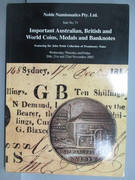 【書寶二手書T6/收藏_PPT】Noble_Important Australian, British...2002/11