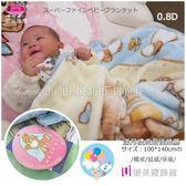 嬰兒禮盒毛毯【雪花熊】100*140 cm/御芙專櫃/日本發熱紗/超細0.8D雙層設計