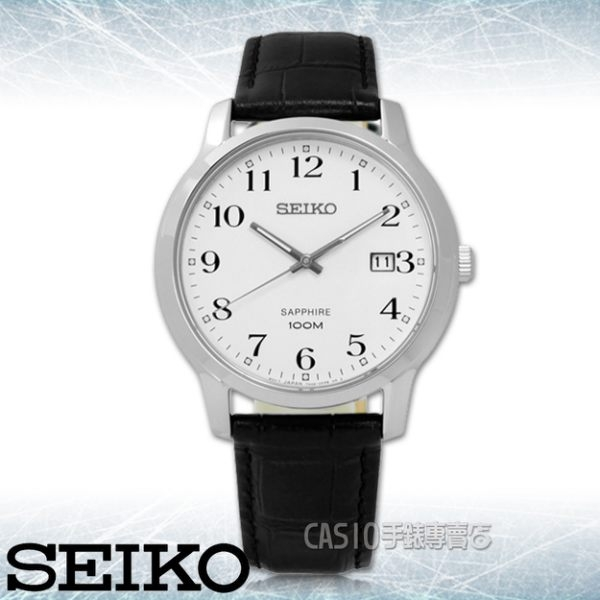 CASIO手錶專賣店 SEIKO精工_SGEH69P1_藍寶石水晶鏡面_日期_石英男錶