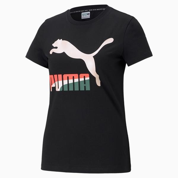 PUMA 女款黑色流行系列 Classics短袖T恤-NO.53007761