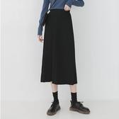 針織半身裙 金大班如初2019秋新款氣質黑色垂墜感鬆緊高腰針織百褶 暖心生活館