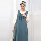 正韓 蕾絲荷葉點綴無袖洋裝 (6751) 預購