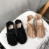 豆豆鞋女春夏季圓頭繫帶單鞋女韓版學生平底懶人兩穿女鞋 盯目家