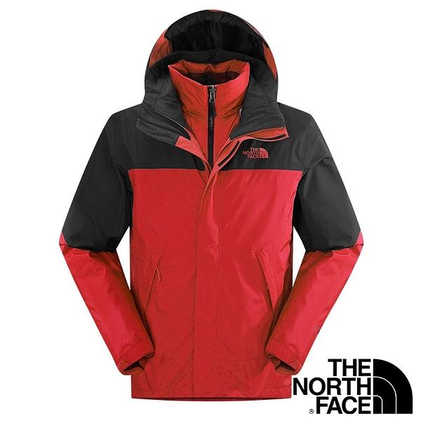 【THE NORTH FACE 美國】男 兩件式GT羽絨外套『紅/灰』NF00CTS2 保暖外套 兩件式外套 GORE-TEX