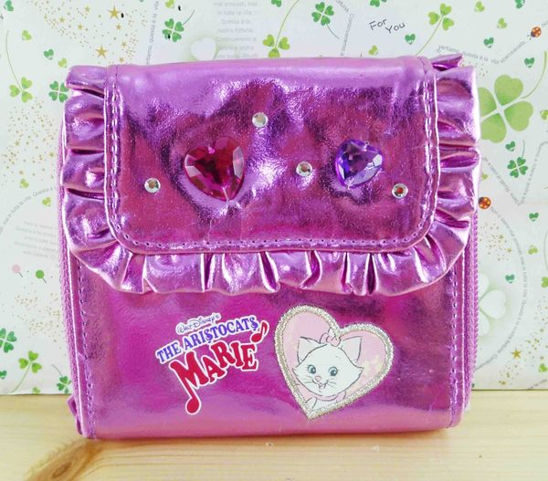【震撼精品百貨】The Aristocats Marie 迪士尼瑪莉貓~短夾-紫珠寶