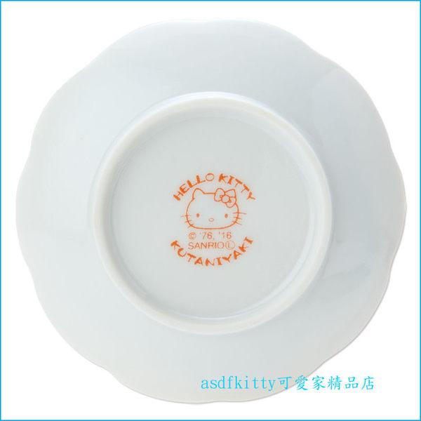 asdfkitty可愛家☆KITTY九谷燒萬花筒陶瓷醬料碟/小碟子/點心皿/茶包盤-裝醬料.胡椒鹽-日本製