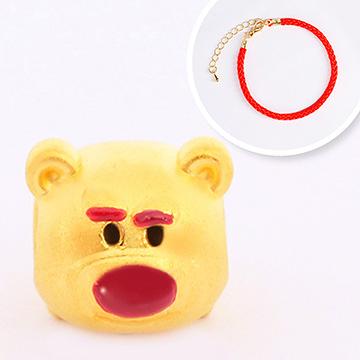 迪士尼系列金飾-TSUM TSUM造型黃金手鍊-熊抱哥款