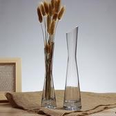 花瓶 玻璃透明小花瓶桌面花插小口細長玫瑰花瓶客廳迷你擺件【樂淘淘】