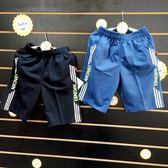 ☆棒棒糖童裝☆(E18057)夏男大童鬆緊腰線條邊棉短褲 S-XXL