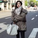 VK精品服飾 韓國學院風短款大碼寬鬆顯瘦棉服單品長袖外套