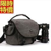 相機包-耐磨防水帆布肩背攝影包3款68ab4[時尚巴黎]