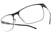 Ic! Berlin 光學眼鏡 JULIUS WAVED BLACK (黑) 輕量工藝知性款 薄鋼眼鏡 # 金橘眼鏡