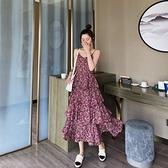 碎花洋裝 法式初戀仙女吊帶裙女2021新款夏碎花蛋糕裙子雪紡連身裙復古長裙 非凡小鋪 新品