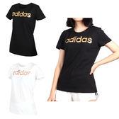 ADIDAS 女短袖T恤 (短袖上衣 短T 慢跑 路跑 愛迪達 免運 ≡排汗專家≡