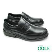 【GOLF】手工氣墊休閒樂福鞋 黑色(GF658-BL)