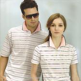 日本名牌 Kawasaki 男女電腦條紋短POLO衫-紫灰條紋-#K227A-#KW227A