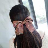 發飾韓國進口頭飾發夾頂夾發卡布藝蝴蝶結馬尾彈簧夾橫夾成人夾子 草莓妞妞