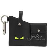 茱麗葉精品【全新現貨】FENDI 7AR759 手機鑰匙皮帶腰掛包.黑