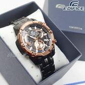 EDIFICE EFR-559DC-1B 低調沉穩計時男錶 防水手錶 日期視窗 黑x玫瑰金 EFR-559DC-1BVUDF CASIO卡西歐