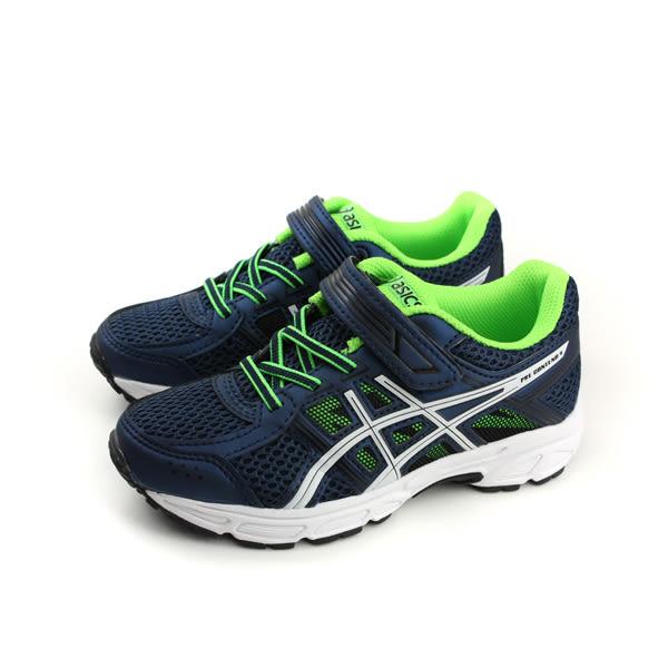 亞瑟士 ASICS PRE CONTEND 4PS 慢跑鞋 運動鞋 深藍色 中童 C709N-4901 no281