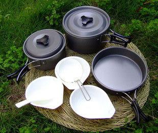 三人套鍋 高級硬質鋁氧化煎鍋】不鏽鋼不粘平底
