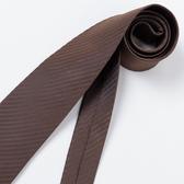 極品西服 經典Teflon防潑水100%絲斜紋領帶_ 咖啡暗紋(YT3001)