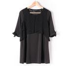洋裝【MASTINA】多層次造型洋裝-黑...