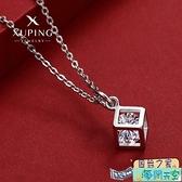幾何方塊鎖骨項鍊女韓國簡約氣質網紅頸鍊吊墜鍊條隨機【海闊天空】