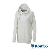 K-SWISS Hooded Sweat Shirts休閒連帽上衣-女-白