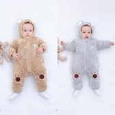 新生嬰兒連體衣服秋冬套裝可愛網紅加厚保暖男女寶寶外出抱衣冬季 潮流衣館