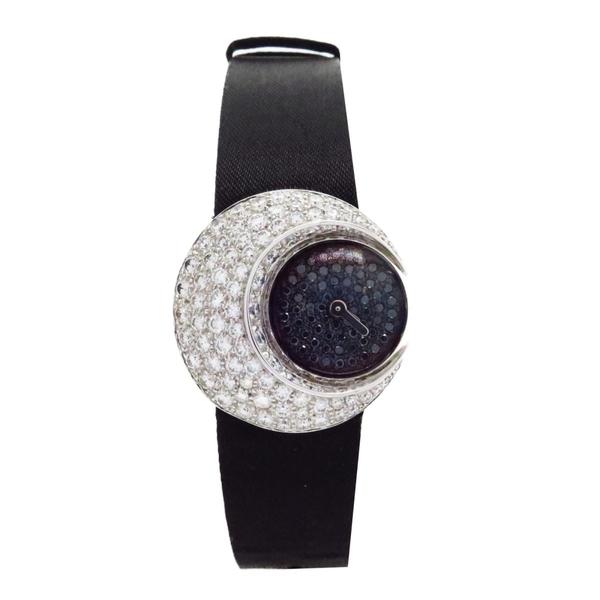 【特價13%OFF】CHANEL 香奈兒 白/黑色鑲鑽白K金石英腕錶 K18WG J1672 【BRAND OFF】
