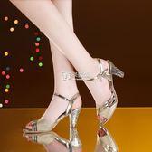高跟鞋 夏天涼鞋女粗跟新款韓版百搭金色中跟高跟魚嘴女鞋子 卡菲婭