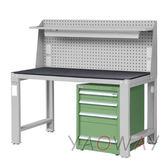 【耀偉】天鋼 單櫃型硬質板(鋼製)工作桌WD-6804EQ6 (工作台,工業桌,機台桌)