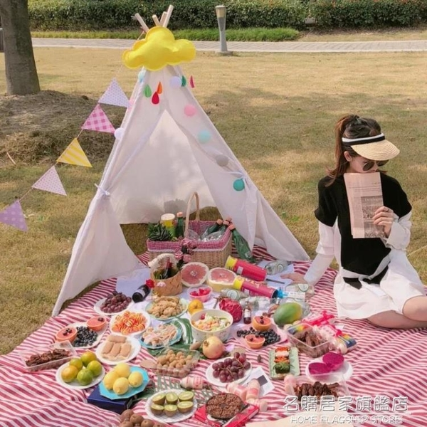 戶外野餐用網紅ins小帳篷兒童寶寶春游帳篷床家用室內睡覺可摺疊 NMS名購居家