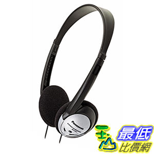 [106美國直購] 耳機 Panasonic On-Ear Stereo B00004T8R2 RP-HT21 Lightweight , Powerful Bass,Silver