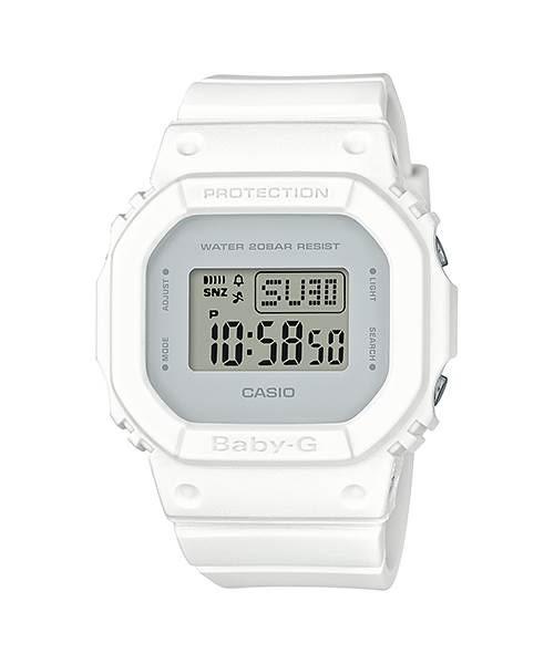 BGD-560CU-7(白)復古黃及清爽的白色從錶殼延伸至錶帶,在搭配上揮或白的錶盤BABY-G(原廠公司貨)