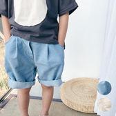復古水洗寬鬆牛仔褲 五分褲 中短褲 牛仔褲 奶油褲 短褲 橘魔法 Baby magic 現貨 男童 童裝