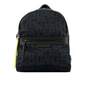 【LONGCHAMP】S號 LE PLIAGE LGP 滿版圖紋後背包(黑/海軍藍) L1118 412 H05