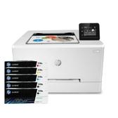 【搭206A原廠碳粉匣二黑三彩】HP Color LaserJet Pro M255dw 無線網路觸控雙面彩色雷射印表機 登錄送好禮